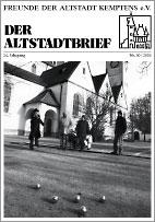 Altstadtbrief 30 / 2003